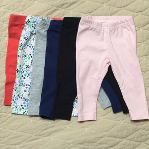 Carter's Leggings, Sz. 3 months, 6 pairs